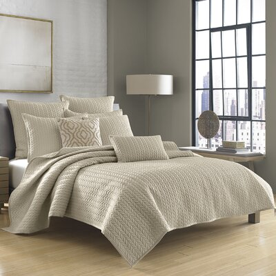 Armida Coverlet Size: Twin, Color: Beige