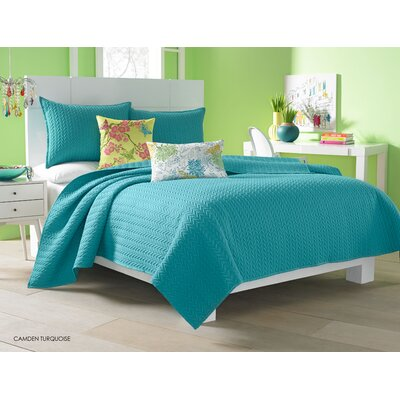 Brott Coverlet Size: Twin, Color: Turquoise