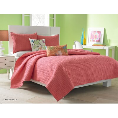 Brott Coverlet Size: Twin, Color: Melon