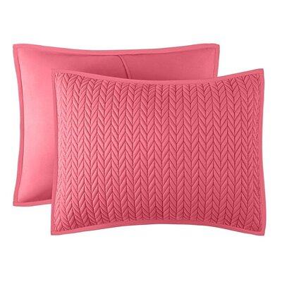 Brott Contemporary Solid Soft Sham Size: Standard, Color: Melon