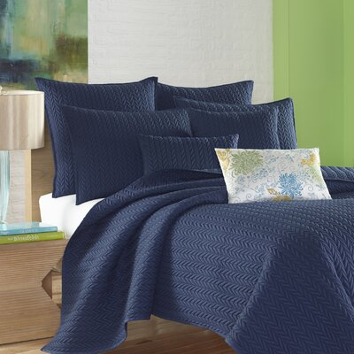 Brott Contemporary Solid Soft Sham Size: Euro, Color: Indigo