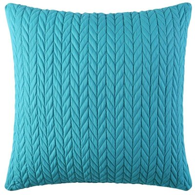Brott Microfiber Square Throw Pillow Color: Turquoise
