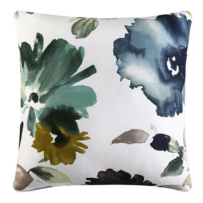 Brott 100% Cotton Throw Pillow Color: Teal