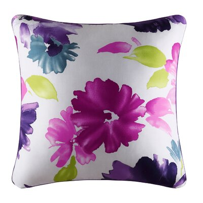 Armida 100% Cotton Throw Pillow Color: Fuchsia