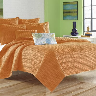 Brott Coverlet Size: King, Color: Orange