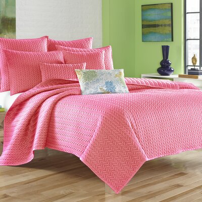 Armida Coverlet Size: Full/Queen, Color: Pink