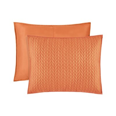 Brott Quilted Sham Size: King, Color: Orange