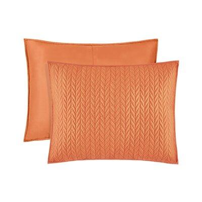 Brott Quilted Sham Size: King, Color: Orange