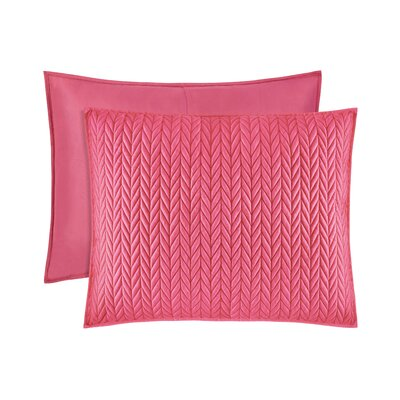 Brott Quilted Sham Size: King, Color: Pink