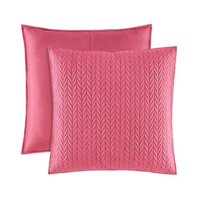 Brott Classic Solid Euro Sham Color: Pink