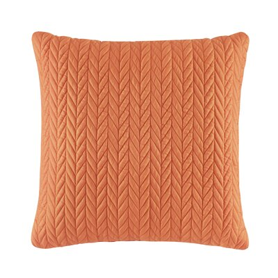 Brott Classic Square Throw Pillow Color: Orange