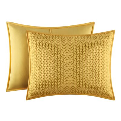 Brott Solid Contemporary Standard Sham Size: Standard, Color: Yellow
