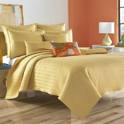 Brott Coverlet Size: Twin, Color: Yellow