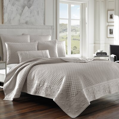 Gunner Coverlet Color: Silver, Size: King