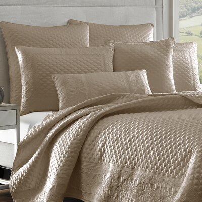 Gunner Coverlet Color: Taupe, Size: Full/Queen