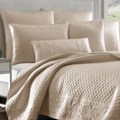 Gunner Coverlet Color: Pearl, Size: Full/Queen