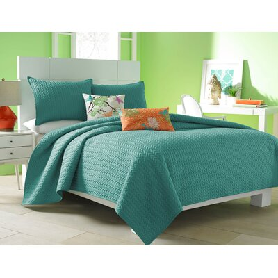 Brott Contemporary Solid Coverlet Size: King