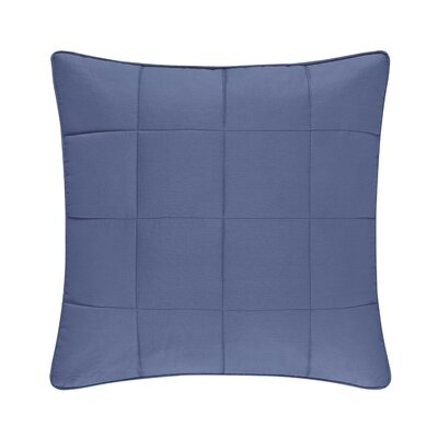 Manchester 100% Cotton Throw Pillow Color: Blue