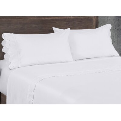 Aurillac 200 Thread Count 100% Cotton Sheet Set Size: King, Color: White
