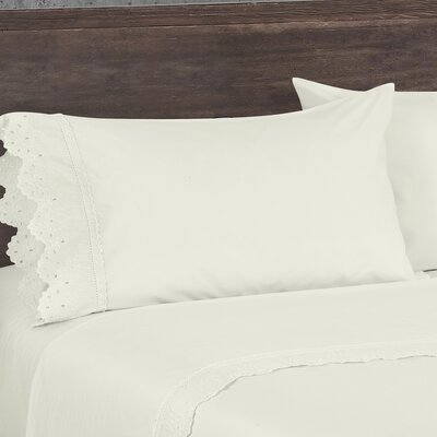 Aurillac Pillow Case Size: King, Color: Ivory