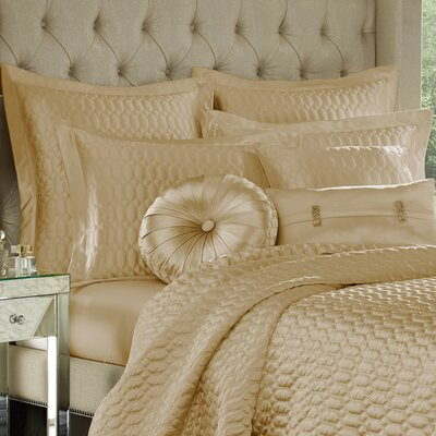 Onna Coverlet Color: Gold, Size: King