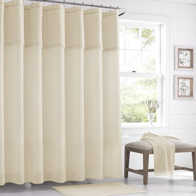 Karthic Shower Curtain Color: Ivory
