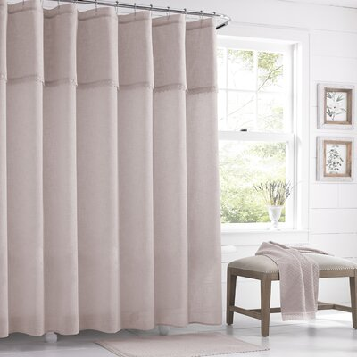 Karthic Shower Curtain Color: Silver