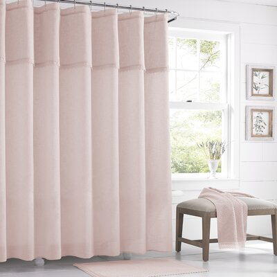 Karthic Shower Curtain Color: Blush