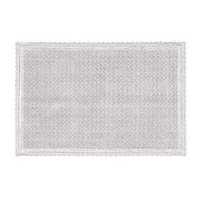 Karthic Bath Rug Color: Silver