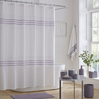 Blaine Cotton Shower Curtain Color: Purple