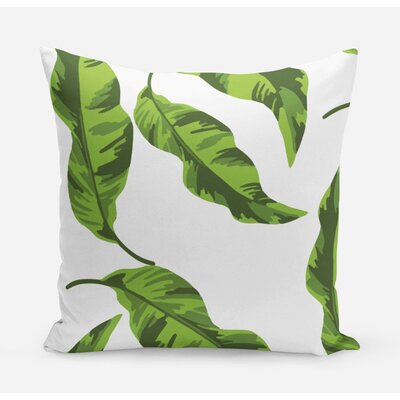Banana Leaves Cotton Throw Pillow Size: 20 H x 20 W x 4 D