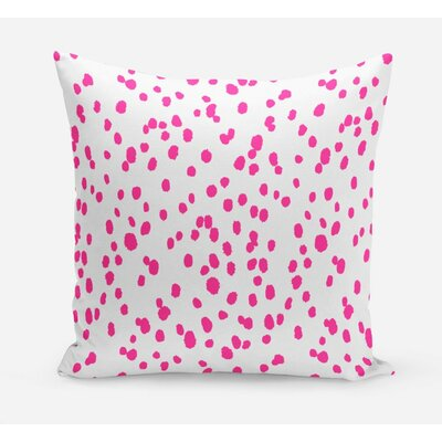 Seeing Spots Cotton Throw Pillow Size: 26 H x 26 W x 4 D, Color: Pink