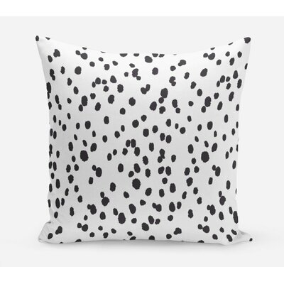 Seeing Spots Cotton Throw Pillow Size: 26 H x 26 W x 4 D, Color: Black