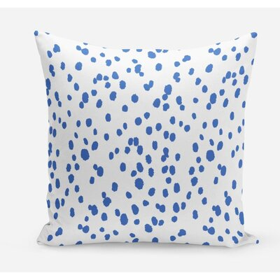Seeing Spots Cotton Throw Pillow Size: 26 H x 26 W x 4 D, Color: Cobalt