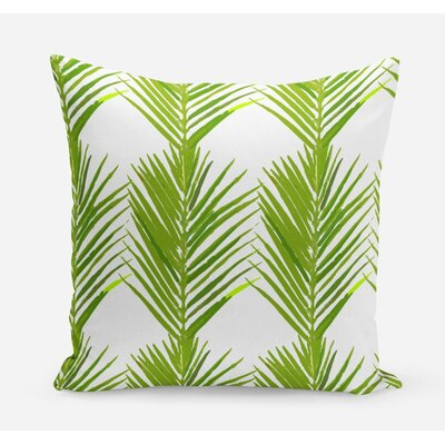 Palms Cotton Throw Pillow Size: 20 H x 20 W x 4 D