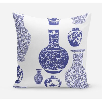Ginger Jars Cotton Throw Pillow Size: 20 H x 20 W x 4 D
