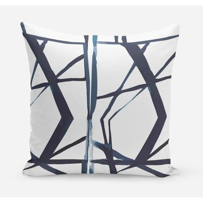 Geometric Cotton Throw Pillow Size: 26 H x 26 W x 4 D