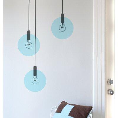 15 Piece Bubble Light Wall Decal Set Color: Blue