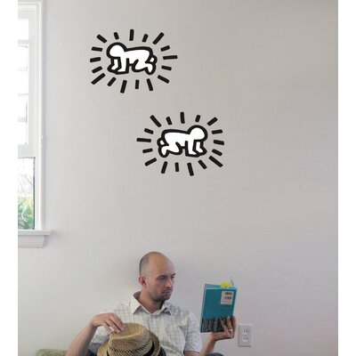 Keith Haring Radiant Baby Wall Decal BKH-101-LB-BW