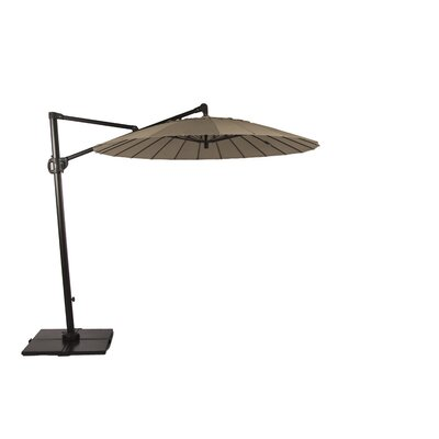 9 Malibu Bliss Cantilever Umbrella Color: Taupe
