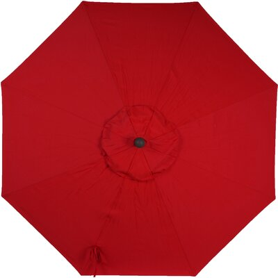 9 Sunbrella Replacement Canopy for Market Umbrella Color: Jockey Red
