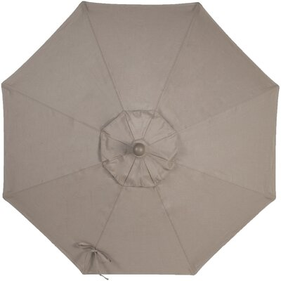 9 Sunbrella Replacement Canopy for Market Umbrella Color: Taupe