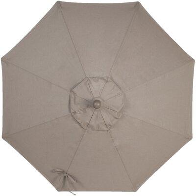9 Sunbrella Replacement Canopy for Market Umbrella Color: Taupe