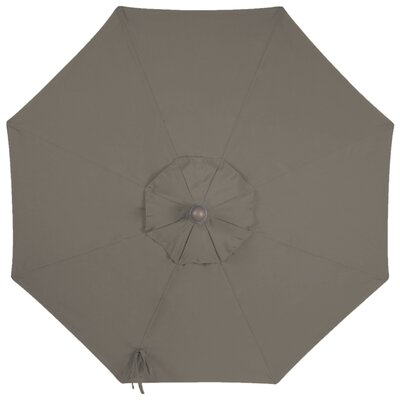 9 Sunbrella Replacement Canopy for Market Umbrella Color: Graphite