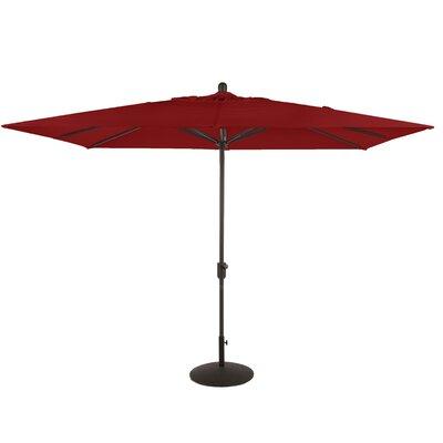 6.5 x 10 La Jolla Rectangular Market Umbrella Fabric: Jockey Red