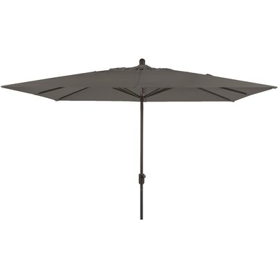 6.5 x 10 La Jolla Rectangular Market Umbrella Fabric: Graphite