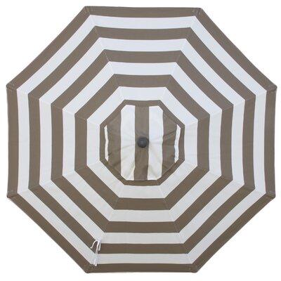 Round Universal Sunbrella Replacement Cover Color: Mocha Stripe