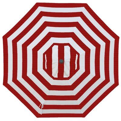 Round Universal Sunbrella Replacement Cover Color: Jockey Red Stripe