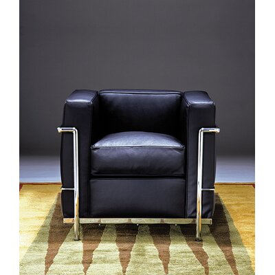 Le Corbusier Petit Comfort Leather Lounge Chair Product Image 1670