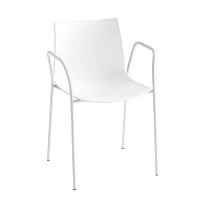 Kanvas 4 Leg Guest Chair Seat Color: White